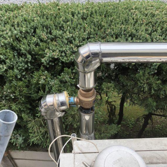 マンションの貯水槽ホース交換